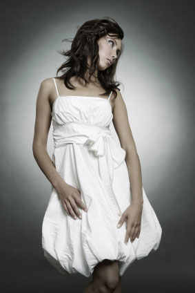 White dress for women
